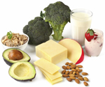 Good sources of calcium include milk, cheeses, leafy green vegetables, and almonds.