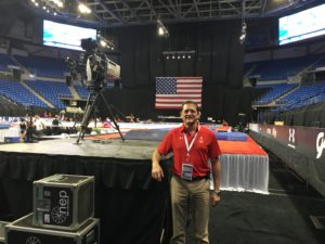 Dr. Bicos attended the Olympic Trials for Men's Gymnastics in St. Louis, MO